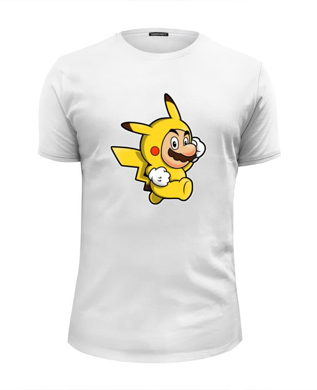 цена на Футболка Wearcraft Premium Slim Fit Printio Mario x pokemon