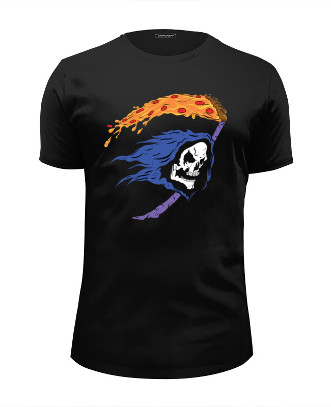 Printio Череп и пицца футболка wearcraft premium slim fit printio пицца и колбаска