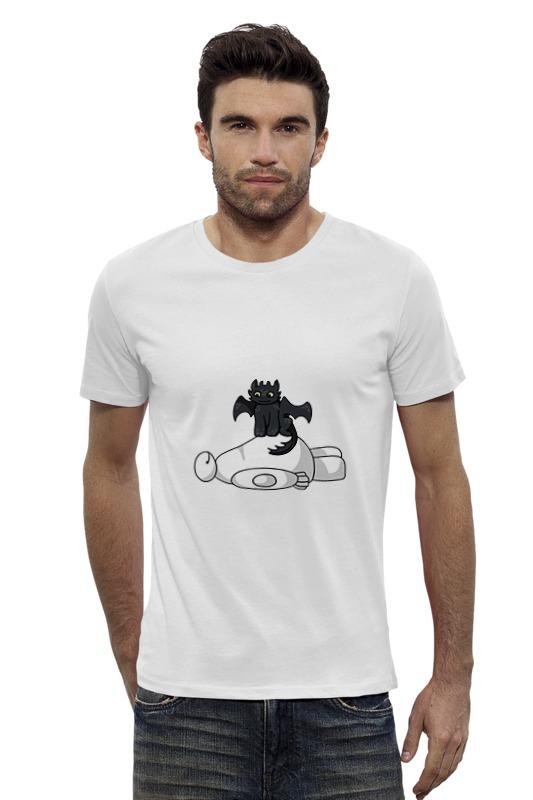Футболка Wearcraft Premium Slim Fit Printio Ночная фурия и баймакс футболка wearcraft premium slim fit printio баймакс город героев