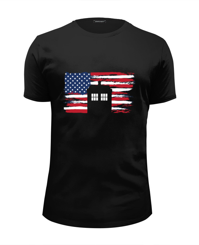 Футболка Wearcraft Premium Slim Fit Printio Tardis usa футболка usa