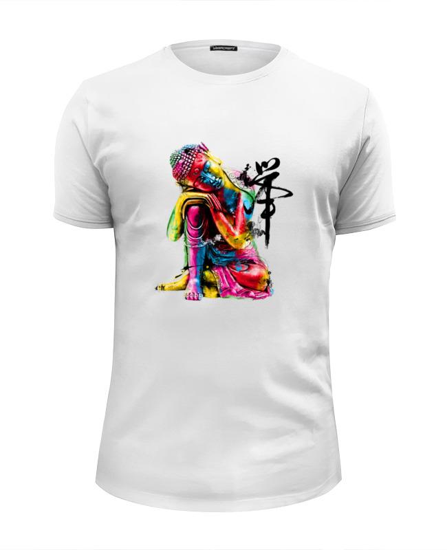 Футболка Wearcraft Premium Slim Fit Printio Будда футболка wearcraft premium printio будда вне времени