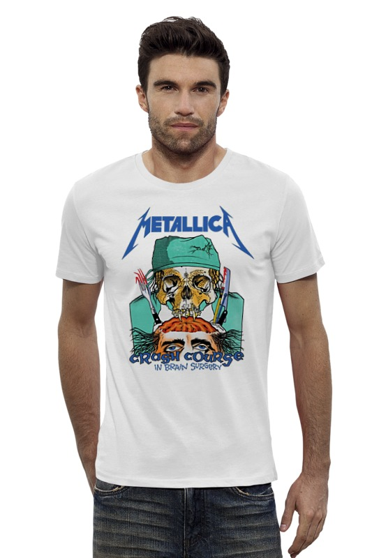 Футболка Wearcraft Premium Slim Fit Printio Metallica футболка wearcraft premium slim fit printio авто уаз