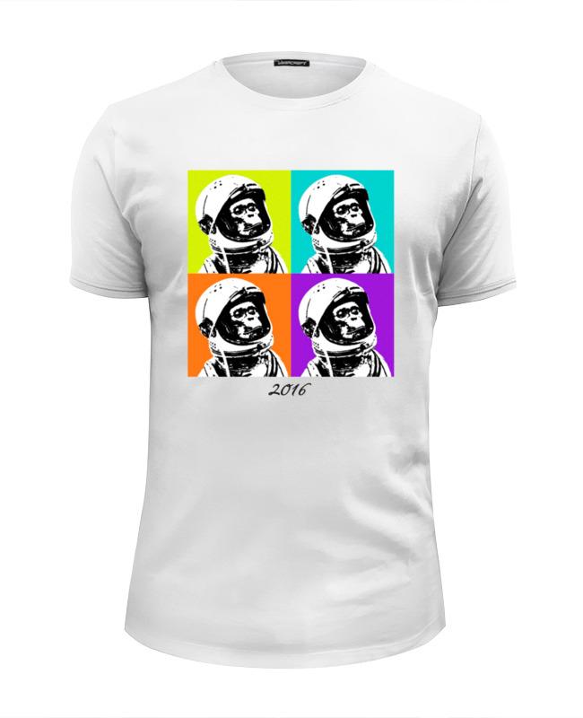 Футболка Wearcraft Premium Slim Fit Printio Обезьяна космонавт футболка wearcraft premium slim fit printio stylish colors