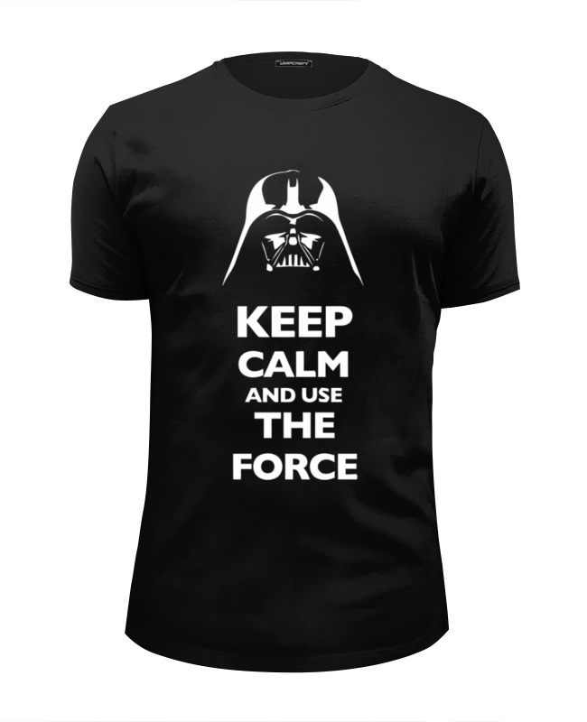 Футболка Wearcraft Premium Slim Fit Printio Keep calm and use the force (star wars) лонгслив printio keep calm and use the force star wars