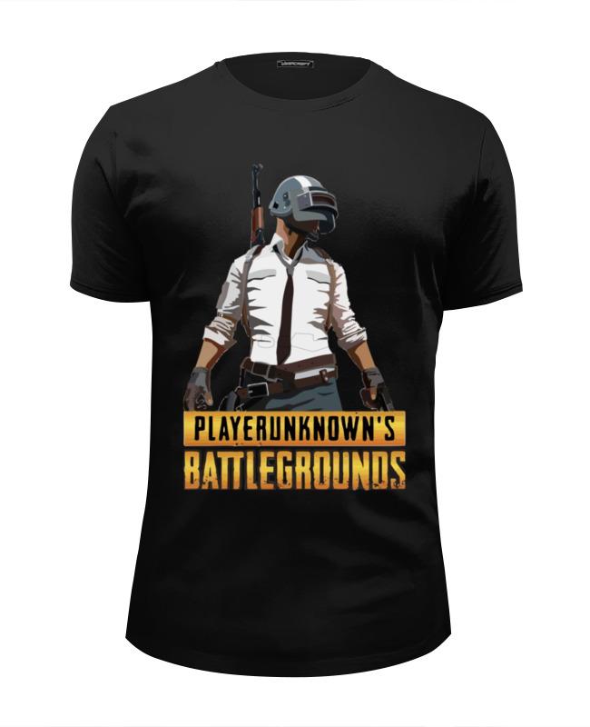 Футболка Wearcraft Premium Slim Fit Printio Playerunknowns battlegrounds лонгслив printio playerunknown s battlegrounds