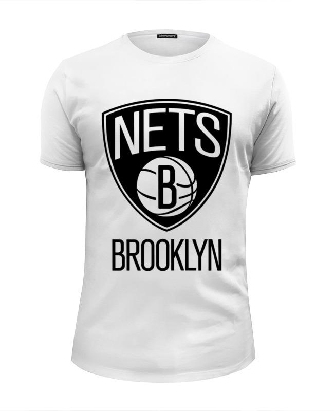 Футболка Wearcraft Premium Slim Fit Printio Бруклин нетс (brooklyn nets)