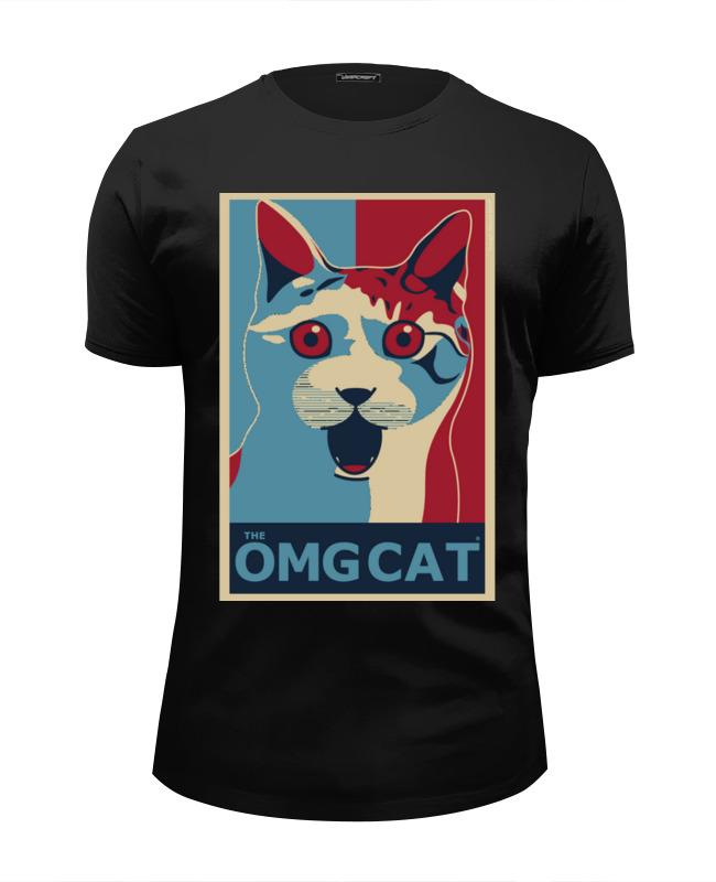 Футболка Wearcraft Premium Slim Fit Printio Омг кот (the omg cat) футболка wearcraft premium slim fit printio the cat in the hat