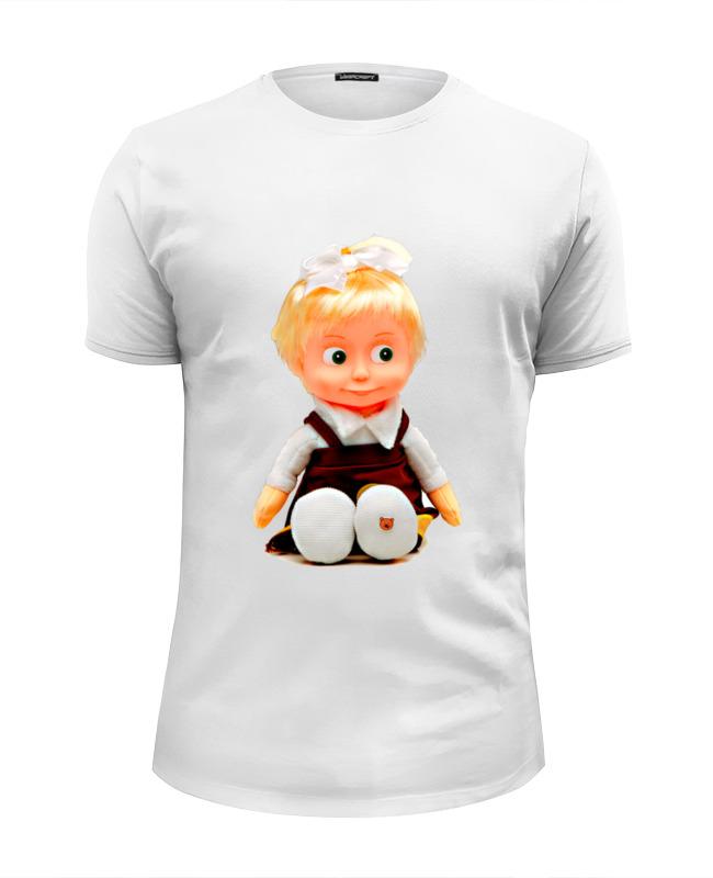 Футболка Wearcraft Premium Slim Fit Printio Кукла-девочка маша из мульта. смешная озорная. футболка wearcraft premium printio кукла девочка маша из мульта смешная озорная