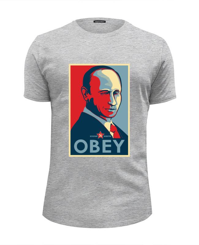 Футболка Wearcraft Premium Slim Fit Printio Путин (obey) футболка wearcraft premium slim fit printio kirill obey