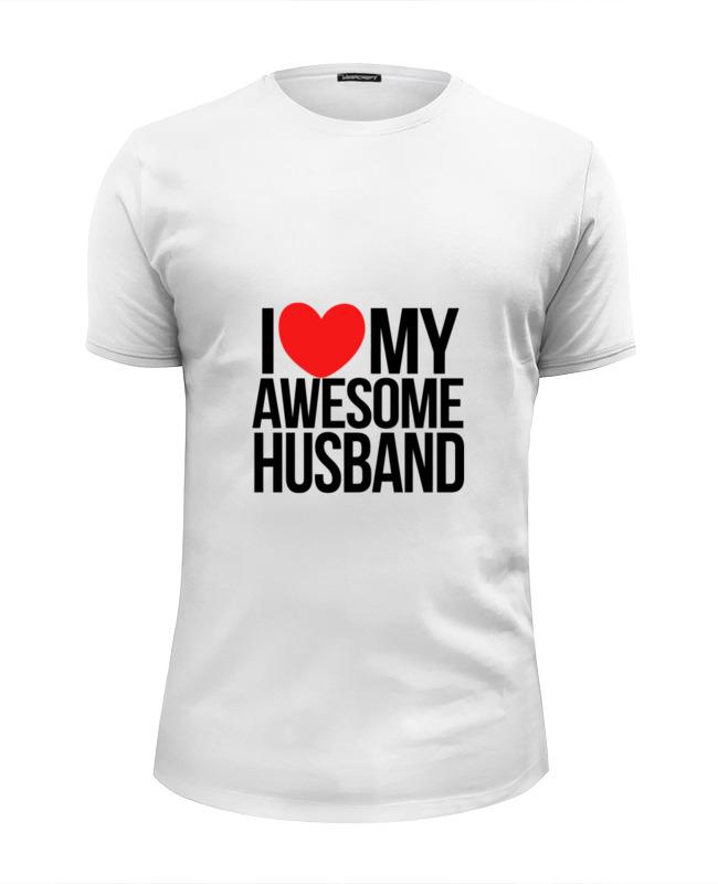 Футболка Wearcraft Premium Slim Fit Printio Люблю мужа футболка wearcraft premium slim fit printio люблю науку