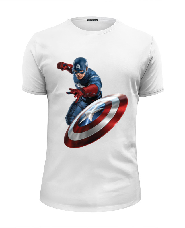 Футболка Wearcraft Premium Slim Fit Printio Captain america футболка wearcraft premium slim fit printio captain america the winter soldier