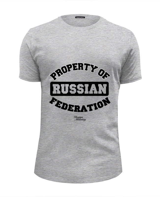Футболка Wearcraft Premium Slim Fit Printio Property of russian federation