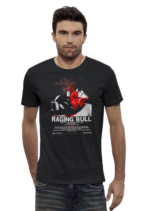Футболка Wearcraft Premium Slim Fit Printio Raging bull / бешеный бык dvd влюбленные р де ниро