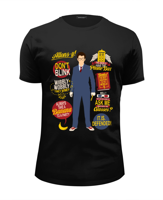 Printio Doctor who футболка wearcraft premium slim fit printio who rules you