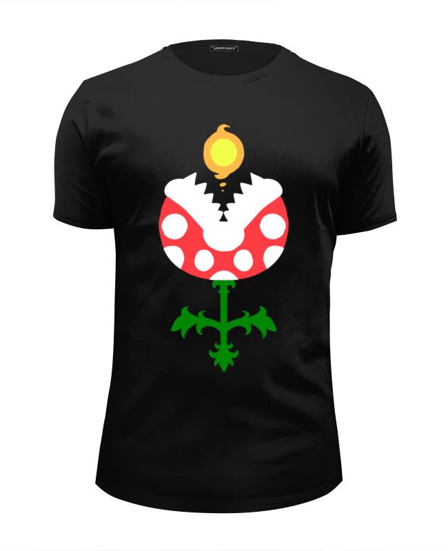 Футболка Wearcraft Premium Slim Fit Printio Цветок из марио футболка wearcraft premium slim fit printio черный цветок