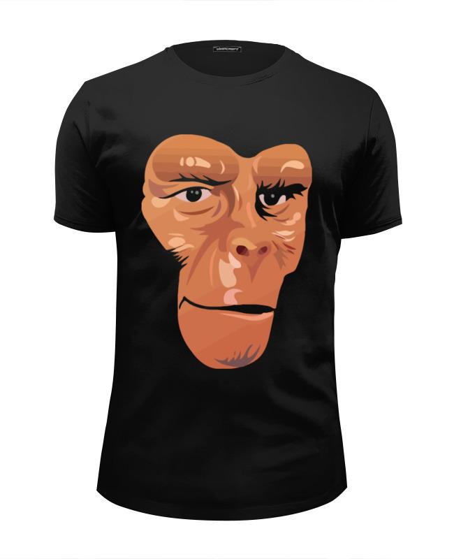 Футболка Wearcraft Premium Slim Fit Printio Обезьяна (планета обезьян) футболка стрэйч printio обезьяны не убивают планета обезьян