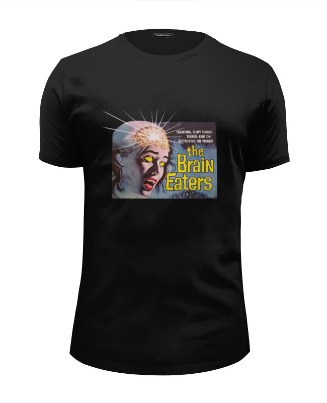 Футболка Wearcraft Premium Slim Fit Printio The brain eaters the brain book