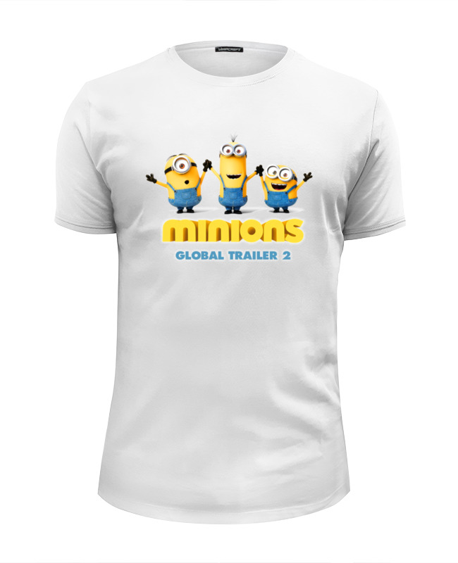 Футболка Wearcraft Premium Slim Fit Printio Minions global trailer 2 maikii maikii minions tim 16gb usb 2 0