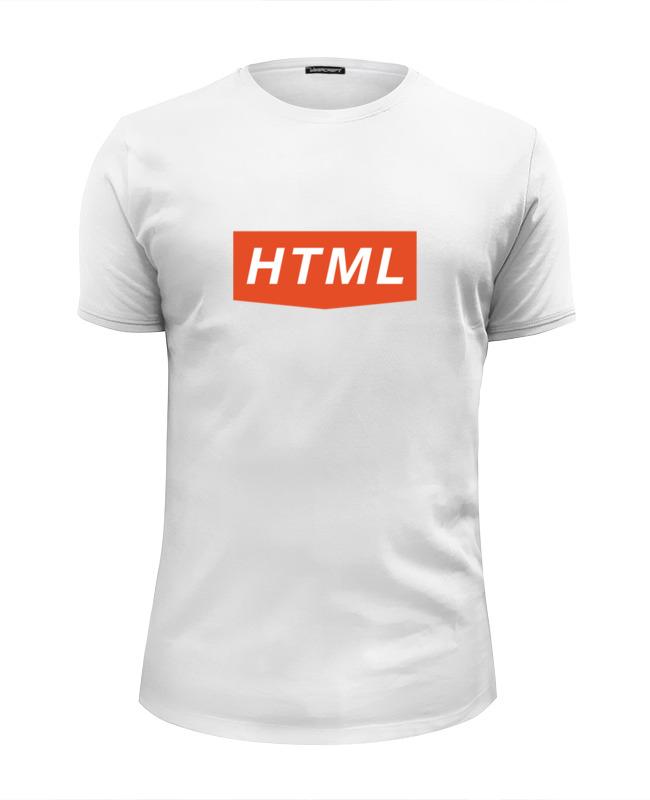 Футболка Wearcraft Premium Slim Fit Printio Html love футболка классическая printio html 5