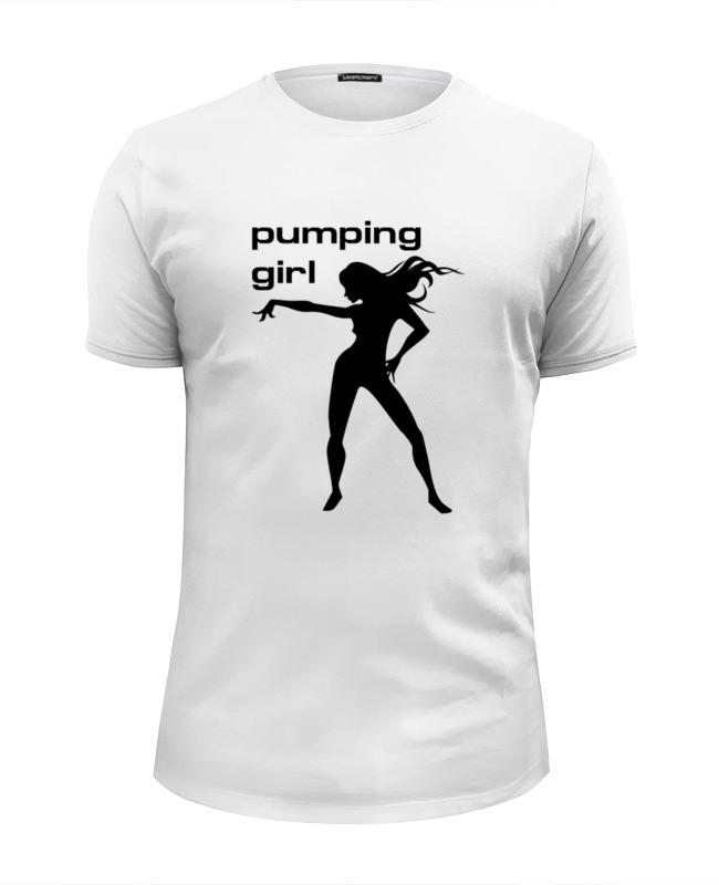 цена Футболка Wearcraft Premium Slim Fit Printio Pumping girl #1