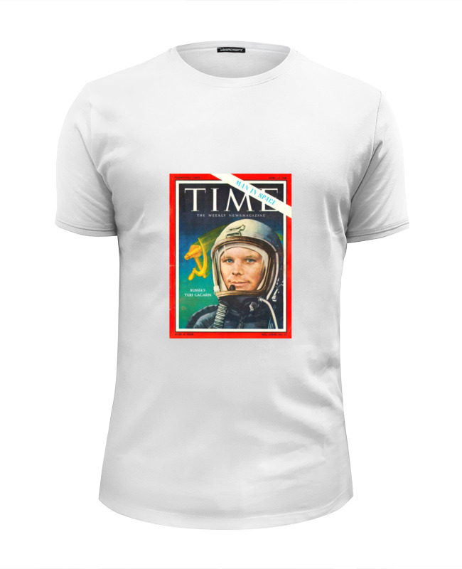 Футболка Wearcraft Premium Slim Fit Printio Лицо гагарина на обложке футболка wearcraft premium printio тони монтана лицо со шрамом