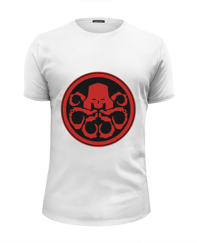 Футболка Wearcraft Premium Slim Fit Printio Красный череп (гидра) футболка wearcraft premium slim fit printio череп байкер