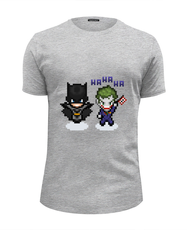 все цены на Футболка Wearcraft Premium Slim Fit Printio Бэтмен и джокер онлайн