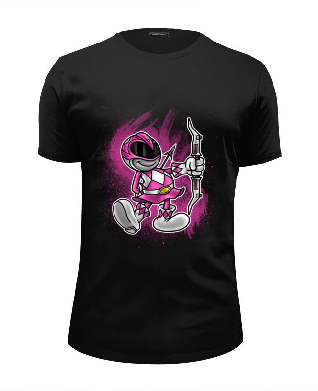 Футболка Wearcraft Premium Slim Fit Printio Розовый рейнджер футболка wearcraft premium printio чёрный рейнджер