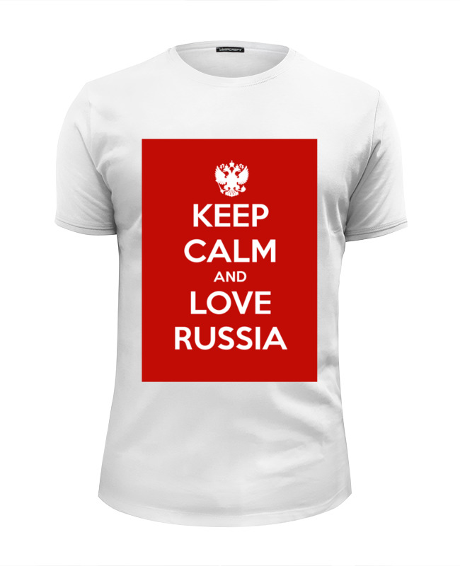 Футболка Wearcraft Premium Slim Fit Printio Keep calm and love russia футболка wearcraft premium slim fit printio keep calm and love russia 2 by design ministry