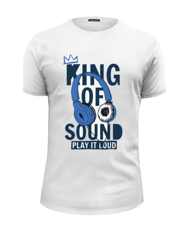 Футболка Wearcraft Premium Slim Fit Printio King of sound футболка wearcraft premium slim fit printio ministry of sound