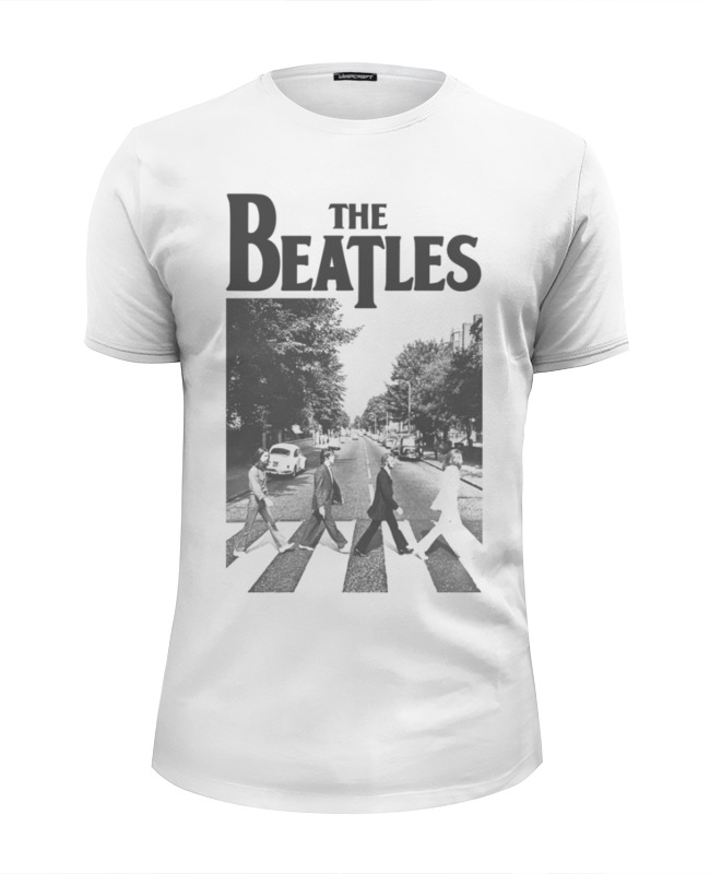Футболка Wearcraft Premium Slim Fit Printio The beatles. abbey road the long road