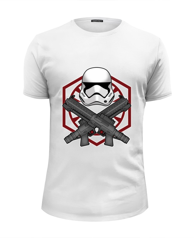 Футболка Wearcraft Premium Slim Fit Printio First order trooper - star wars майка классическая printio first order trooper star wars
