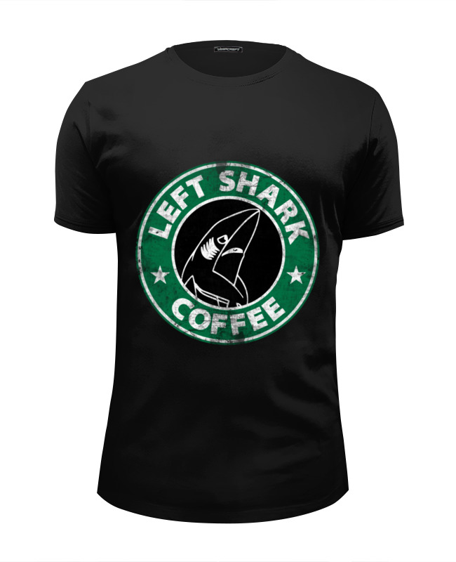 Футболка Wearcraft Premium Slim Fit Printio Левая акула футболка wearcraft premium slim fit printio акула shark