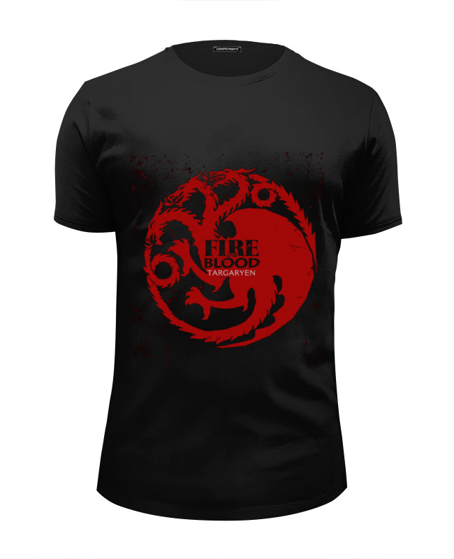 Футболка Wearcraft Premium Slim Fit Printio Fire and blood цена