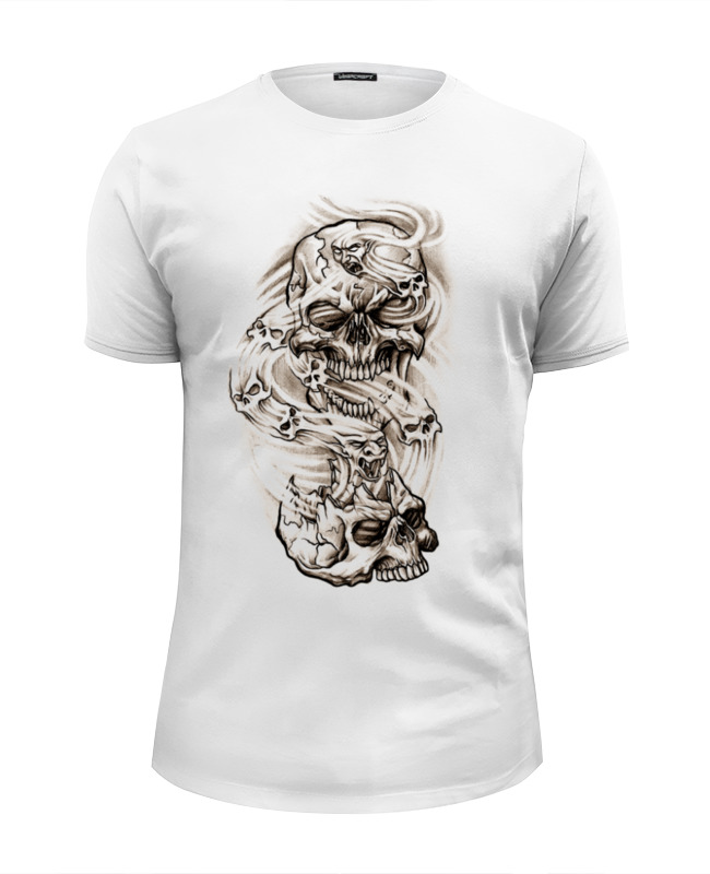 Футболка Wearcraft Premium Slim Fit Printio Smoke skulls жесткий диск 4tb seagate barracuda st4000dm004