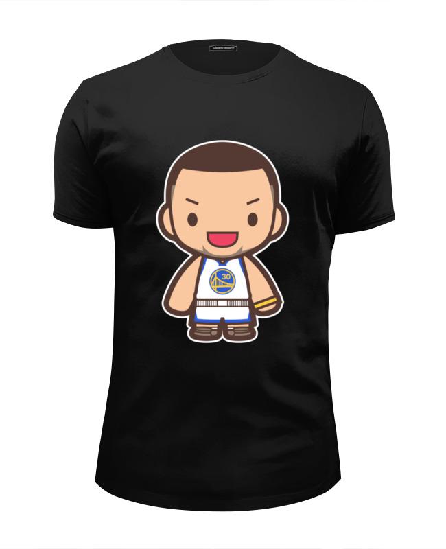 Футболка Wearcraft Premium Slim Fit Printio Стефен карри (голден стэйт уорриорз) футболка с полной запечаткой мужская printio стефен карри stephen curry