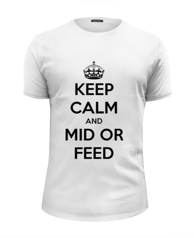 Футболка Wearcraft Premium Slim Fit Printio Keep calm and mid or feed 1000kg h vertical animal feed crushing and mixing machine