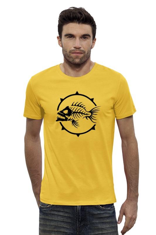 Футболка Wearcraft Premium Slim Fit Printio Рыба скелет олег ольхов рыба морепродукты на вашем столе
