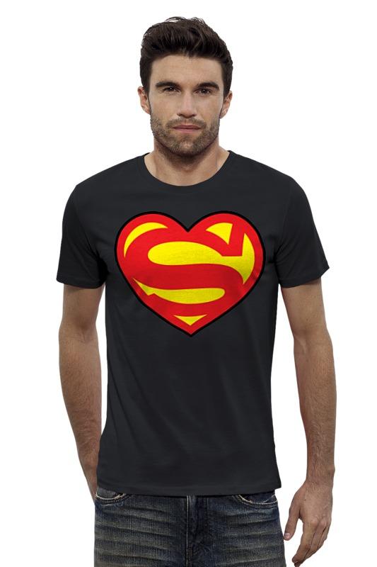 Футболка Wearcraft Premium Slim Fit Printio Я люблю супермена футболка wearcraft premium slim fit printio я люблю мир