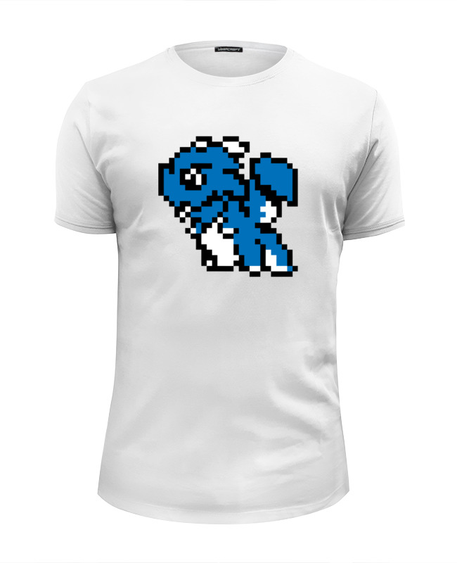 Футболка Wearcraft Premium Slim Fit Printio Пиксельный дракон футболка wearcraft premium slim fit printio русалка и дракон