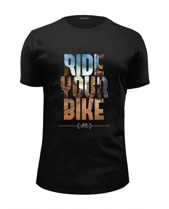 Футболка Wearcraft Premium Slim Fit Printio Ride your bike (город) футболка wearcraft premium slim fit printio follow your dreams