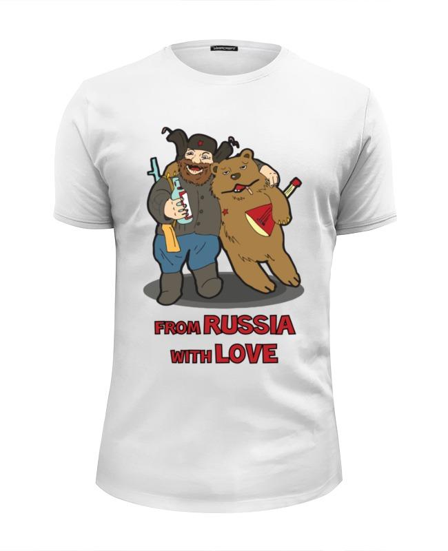 Футболка Wearcraft Premium Slim Fit Printio From russia with love (из россии  любовью)