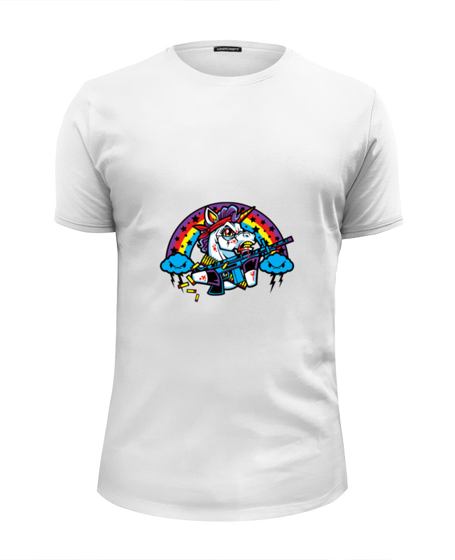 Футболка Wearcraft Premium Slim Fit Printio Единорог футболка wearcraft premium slim fit printio единорог