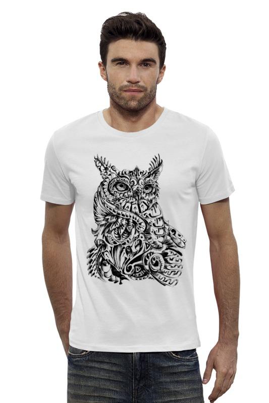 Футболка Wearcraft Premium Slim Fit Printio Сова тату футболка wearcraft premium slim fit printio ночная сова