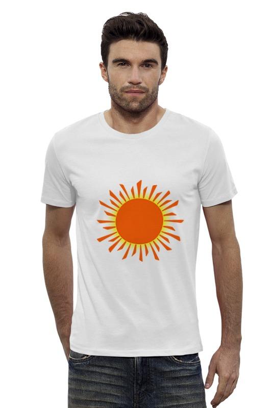 Футболка Wearcraft Premium Slim Fit Printio Оранжевое солнце футболка wearcraft premium printio оранжевое солнце
