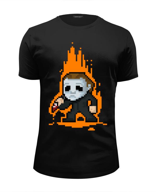 Футболка Wearcraft Premium Slim Fit Printio Майкл майерс (хэллоуин) футболка классическая printio майкл майерс хэллоуин