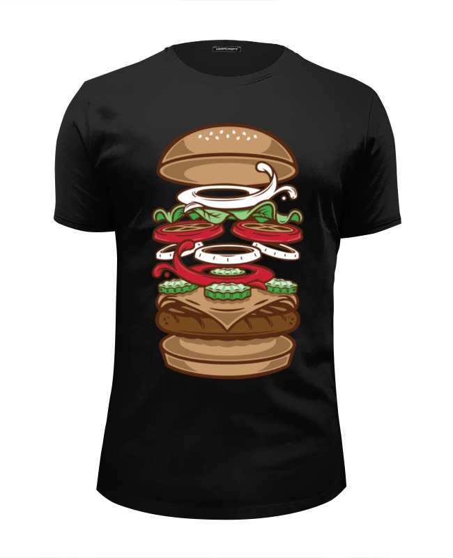 Футболка Wearcraft Premium Slim Fit Printio Burger/бургер футболка wearcraft premium slim fit printio diet burger бургер