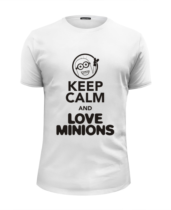 Printio Keep calm & love minions футболка wearcraft premium slim fit printio keep calm and love russia