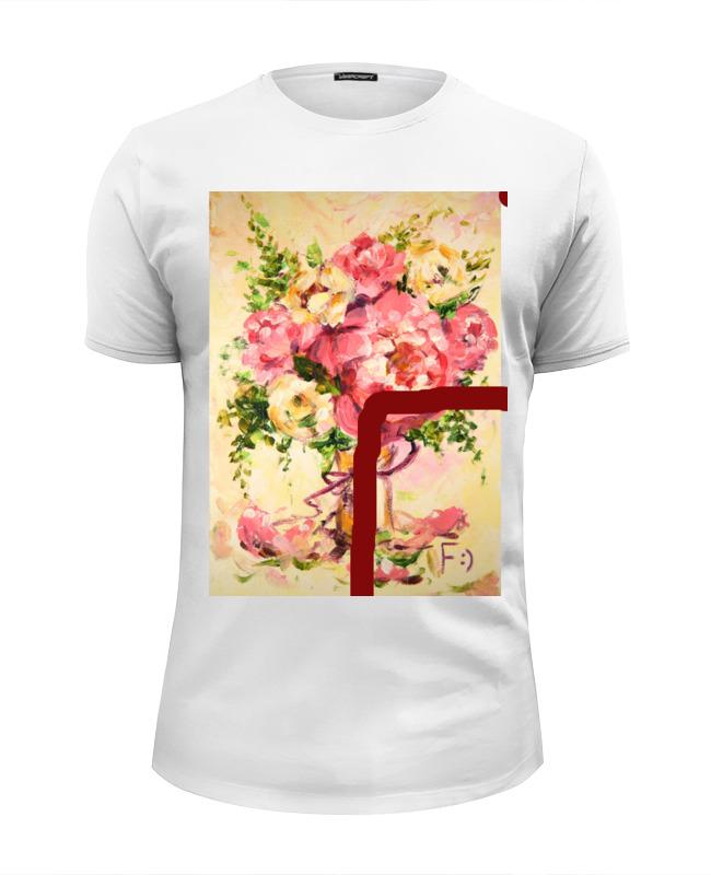 Футболка Wearcraft Premium Slim Fit Printio Любовь и цветы!