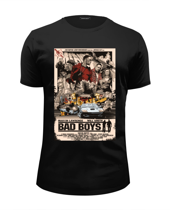 Футболка Wearcraft Premium Slim Fit Printio Плохие парни (bad boys)